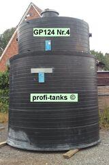 P124 gebrauchte 15.000 L PE-Hostalen GM5010T2-Tanks Chemietanks doppelwandig Kunststofftanks Schwefelsäure Essigsäure Natronlauge Salzsäure Salpetersäure