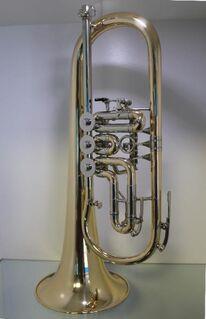 Melton Ideal Konzert Flügelhorn 124 G - L. Egerländer Musikantenmodell aus Goldmessing. Neuware - Hagenburg