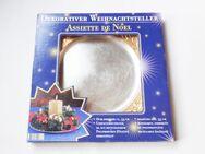"""dekorativer Weihnachtsteller / Teller """"gold/silber"""" 33cm - Weihnachtsdeko - Andernach"""
