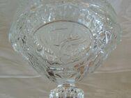 Bonboniere - rund mit hohem Deckel, Glas, H 14cm, Durchmesser 11,5cm - Zülpich