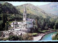 alte farbige Postkarte von Lourdes - Niederfischbach