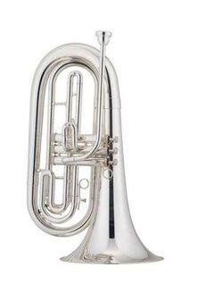 Jupiter Basstrompete, Mod. 560 S in versilberter Ausführung. Neuware - Hagenburg