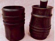 2 Mörser / 1 Stößel - robustes Hartkunststoff im Holzdekor - Groß Gerau
