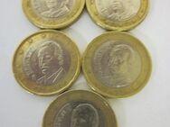 Spanien-1 €uro-5 x Umlauf-Münzen-2000-2001-2002-2003-2004- - Mahlberg