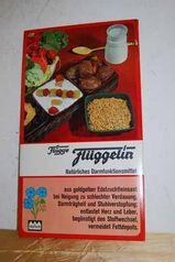 70er Jahre Papp-Werbeaufsteller / Flüggelin Natürliches Darminfunktionsmittel