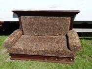 Gründerzeit Couch mit Weichholz Gestell / Sofa aus der Zeit um 1880 / 1900 - Zeuthen