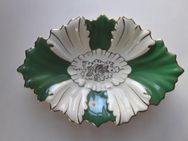 Ovale Blattschale aus Porzellan, handbemalt - Eckernförde