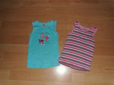 2 Unterhemden von Topomini, türkis und rosa, Gr. 86/92 - Bad Harzburg Zentrum