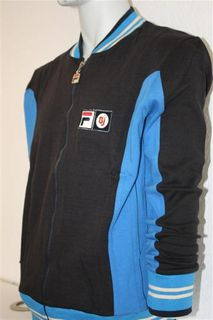 Fila Blau Vintage Settanta Bjorn Borg old School Jacke Sweater John McEnroe 70s - Elze Zentrum