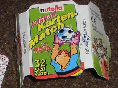 Nutella Werbung Mini Kartenspiel Fußball 1998 - Bottrop