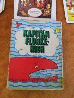 DDR Quartettspiel Kapitän Flunkerich / Altenburger Spielkartenfabrik 1977 - Zeuthen