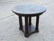 Alter runder Tisch in Eiche / Beistelltisch aus der Zeit um 1920/30 - Zeuthen