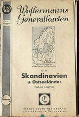 Westermanns Generalkarte Sandinavien und Ostseeländer Nr. 38 von 1940