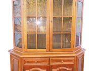 Vitrine / Wohnzimmerschrank mit Glasteil um 1990 / Eichenfurnier / gebraucht - Zeuthen