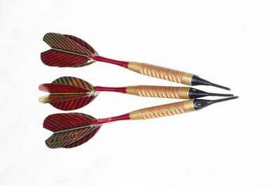 STRONG Turnier Softdart Pfeile 3er-Set 18gr. mit Flights - Spitzen & Lederetui - Andernach