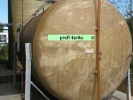 P86 gebrauchter 30.000 L Polyestertank GFK-Tank Reich-Tank Lagertank Wassertank Zisterne Flüssigfuttertank Regenauffangtank oberirdischer Lagerbehälter - Nordhorn