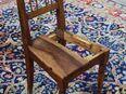 Jugendstil Stuhlgestell aus Nussbaum massiv / Stuhl zum Aufarbeiten - um 1917 - Zeuthen
