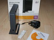 Netgear Wireless-N 300 Router WNB2100-100GRS WN111 USB Adapter Kit WLAN 300MBit/s 4-Port Wireless-G - Sonneberg