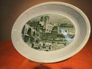 Vorlegeplatte FINE WARE, Englische Keramik / Fleischplatte histor. Stadtansicht