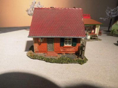 Kleines 7teiliges Dorf Modellbahn Spur H0 um 1980 / Maßstab 1: 87 / Faller - Zeuthen