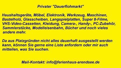 """Private """"Lagerräumung"""" - Arendsee (Altmark) Zentrum"""