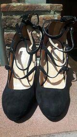 Pumps/High Heels, neu u. ungetragen, mit Schnürung und 10 cm Absatz, schwarz, Gr. 38