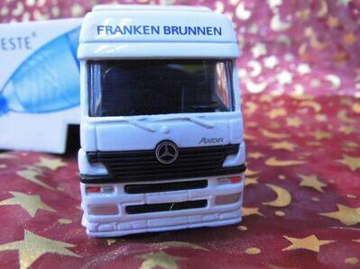 Großer Modelltruck Frankenbrunnen / Werbetruck Mineralwasser / teilweise Metall - Zeuthen