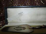 Antiker Tortenheber um 1900 / 800er Silber Blatt vergoldet / schwere Ausführung - Zeuthen