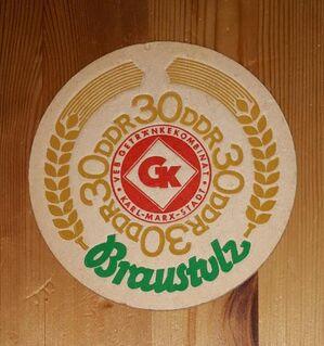 Braustolz 30 Jahre DDR BD Bierdeckel GK Karl - Marx - Stadt - Nürnberg