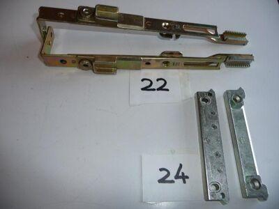 je2MACO-Riegel-Schließteil,2 Schlitze für Euronut,2-flg.,gelb chrom. - Ritterhude