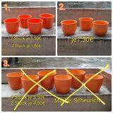 Übertöpfe Blumen orange-Töne, Scheurich