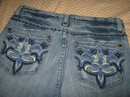 "NEU* Shabby Style * Stickerei * Swarovski * Glitzer * Strass * Kristalle * Schlag * Jeans- Hose ""BIBA by ESCADA"" Gr. 34- 36/ XS- S, blau * - Riedlingen"