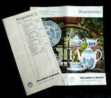 alte Broschüre von Burgenland Service Villeroy & Boch