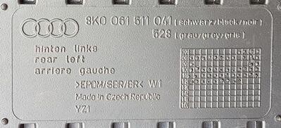 Original Audi Allwetterfußmatten, für vorne und hinten, schwarz - Essen