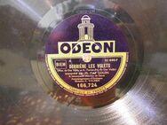 Alte Odeon Schellackplatte Fred Gouin / Derriére les volets, Sérénade du passant - Zeuthen