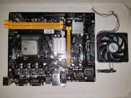 AMD CPU FX FD4100WMW4KGU FA 1633PGS Y913160J60731 Diffused in Germany Made in Malaysia AMD 2011 A9600+V2 Ver 6.1 Mainboard [2] DDR 3 PCI-E x16 PCI-E PCI USB 2.0 DVI 5.1 HD Audio EuP Ready GbE LAN USB 2.0 PCI Express 2.0 [4] SATA 3Gb/s CPU-Kühler PCNBUG - München Altstadt-Lehel