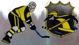 Fensterbild Eishockeyspieler