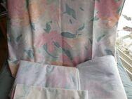 Frottee-Bettwäsche mit Blattmuster (Gr.135 x 220 cm ) Grün, Rosa, Pink ( Überlänge) für 2 Personen - Weichs