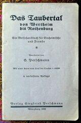 Das Taubertal - ein Reisehandbuch von 1922