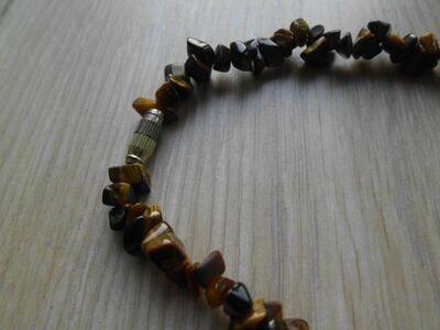 Steinkette Kette Halskette aus Steinen 48 cm apart braun 5,- - Flensburg