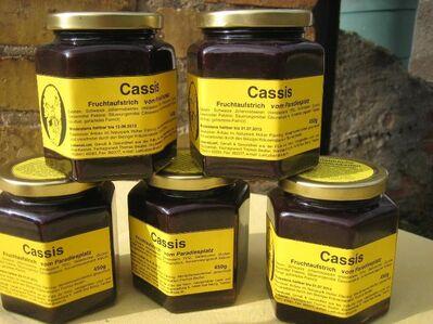Fruchtaufstrich schwarze Johannisbeer 450g mit 75% Fruchtanteil - Bad Belzig Zentrum
