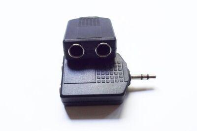 2 St. Stereo Y-Adapter 3,5mm Klinkenstecker auf 2 x 6,3mm Kupplung - Andernach