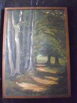 """Gemälde Öl auf Leinwand von Oskar Stark """"Im Habichtswald"""" 1933"""
