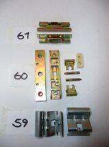 MACO-Bandwinkel 18-9,silber,+Öffnungsbegrenzer mit Platte 11070/36170