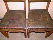 Zwei gepolsterte Stühle in Eiche / Holzstühle aus der Zeit um 1920 - Zeuthen