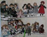 Große Puppen-Sammlung