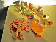 Holz-Spielzeug,verschiedene,8 Stück,Natur,Bunt,Alt - Linnich