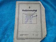Kraftfahrzeugbrief entwertet. Aus Nachlass - Kassel Brasselsberg
