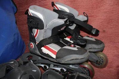 Inline Skater, Rollerblades, Inliner; Körperschutz & Tasche; Größe 31,5 bis 34,5 - Bad Belzig