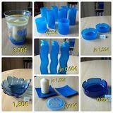 Dekoartikel blau, Gläser, Aschenbecher, Schale